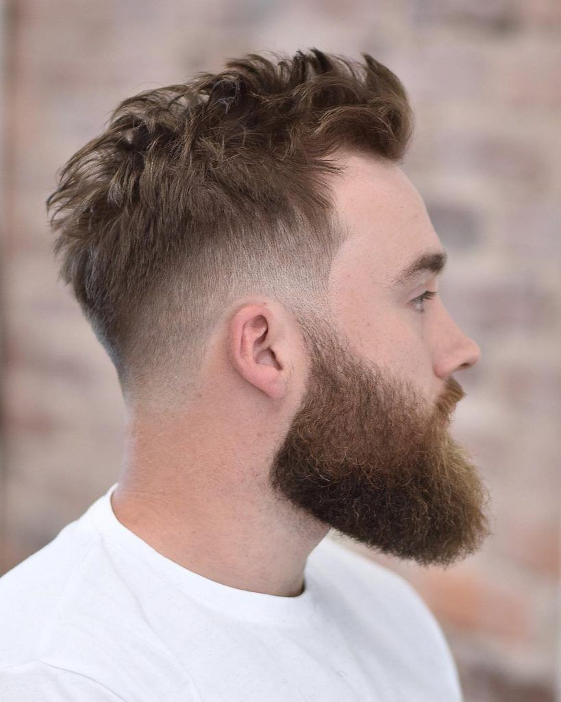Crew Undercut With Beard Mens Haircuts Fade Low Fade Haircut Fade Haircut