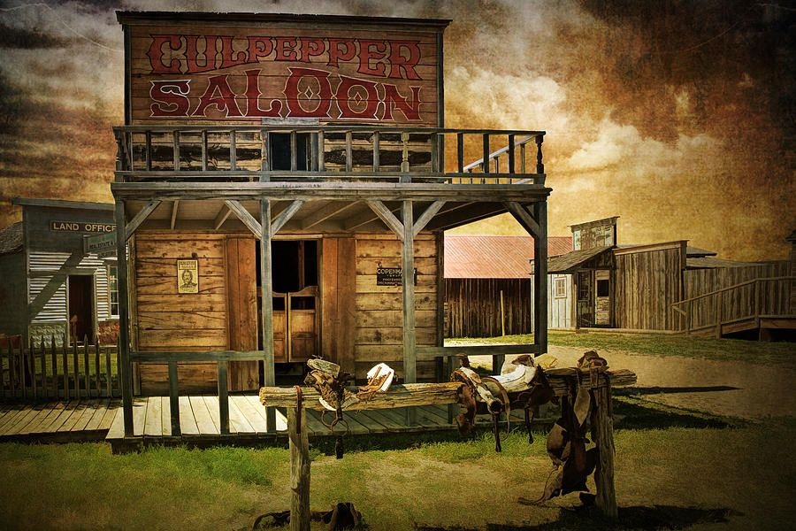 southwestern saloons Culpepper Western Town Saloon Photograph