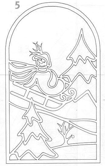 Paneles decorativos de papel para decorar ventanas en Navidad ...