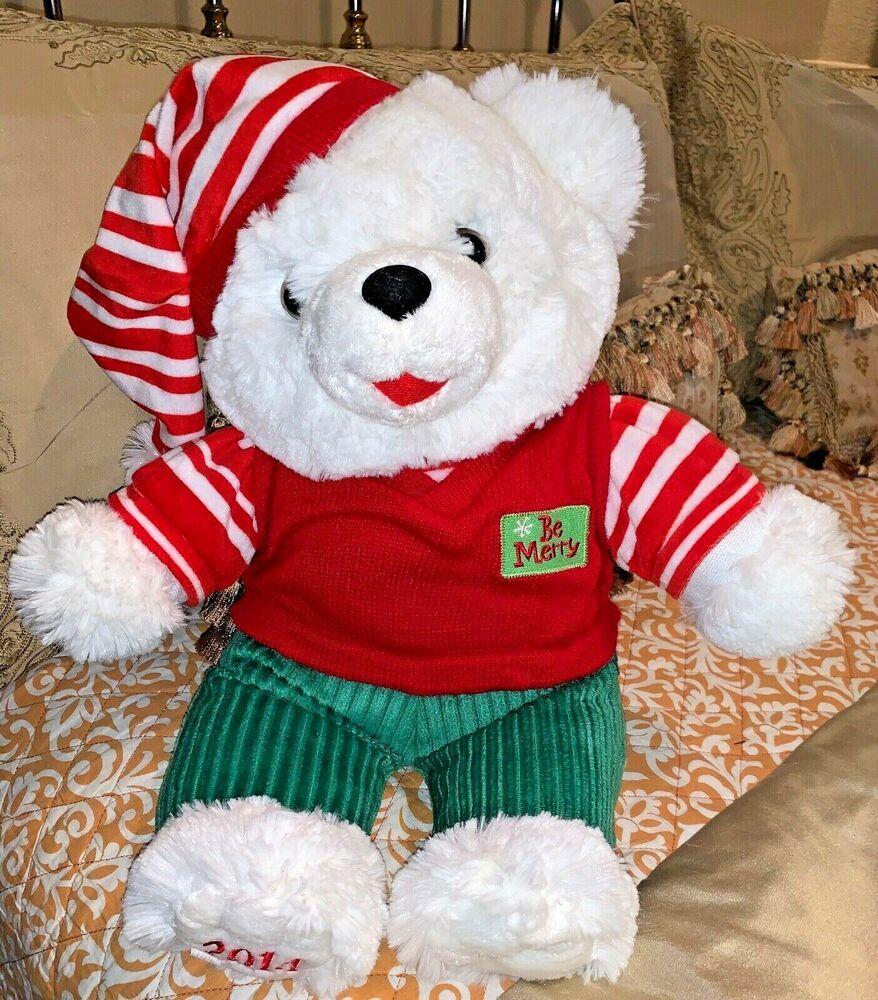 Snowflake Teddy Bear Wal Mart Large 2014 New W Hang Tag Dan Dee Be Merry Walmartdandee Christmas In 2020 Teddy Bear Teddy Christmas Stockings
