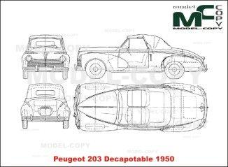 Peugeot 203 Decapotable 1950 Blueprints Ai Cdr Cdw Dwg Dxf