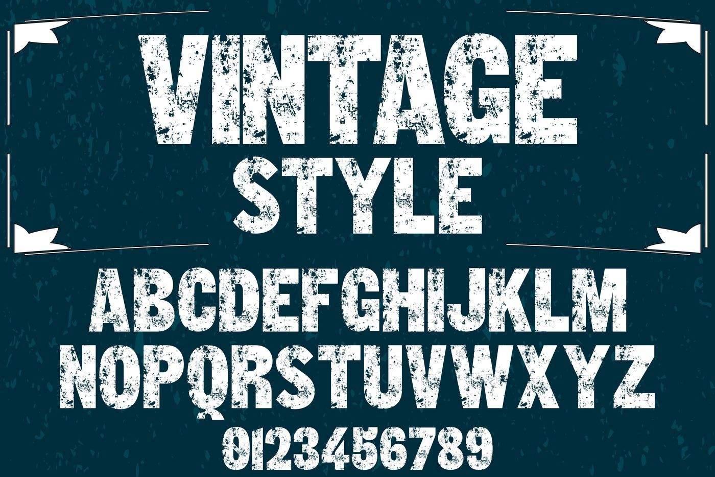 vintage alphabet Typeface handcrafted vector label design