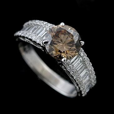 Rose Gold Engagement Rings With Brown Diamonds 33