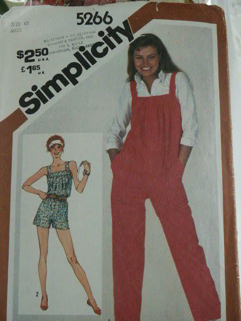 Vintage 1981 Simplicity Long or Short Jumpsuit by LadyJanetvintage, $4.95