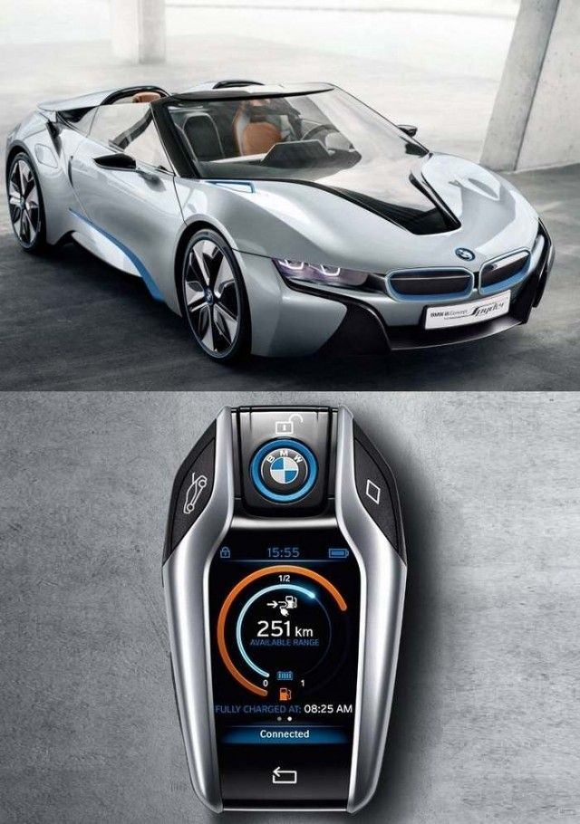 bmw i8 spyder and the new key autos und motorr der autos und flugzeug. Black Bedroom Furniture Sets. Home Design Ideas