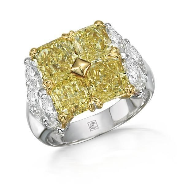 Gojee - Radiant Fancy Diamond Ring by Cora