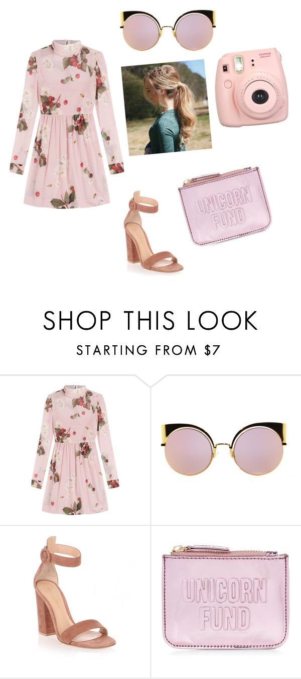 """""""mmmm"""" by alexirinka ❤ liked on Polyvore featuring RED Valentino, Fendi, Gianvito Rossi, New Look and Fujifilm"""