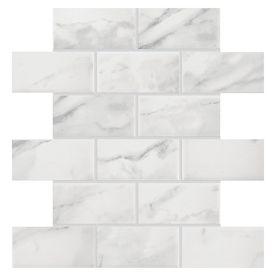 American Olean Mooreland Carrara White Subway Mosaic