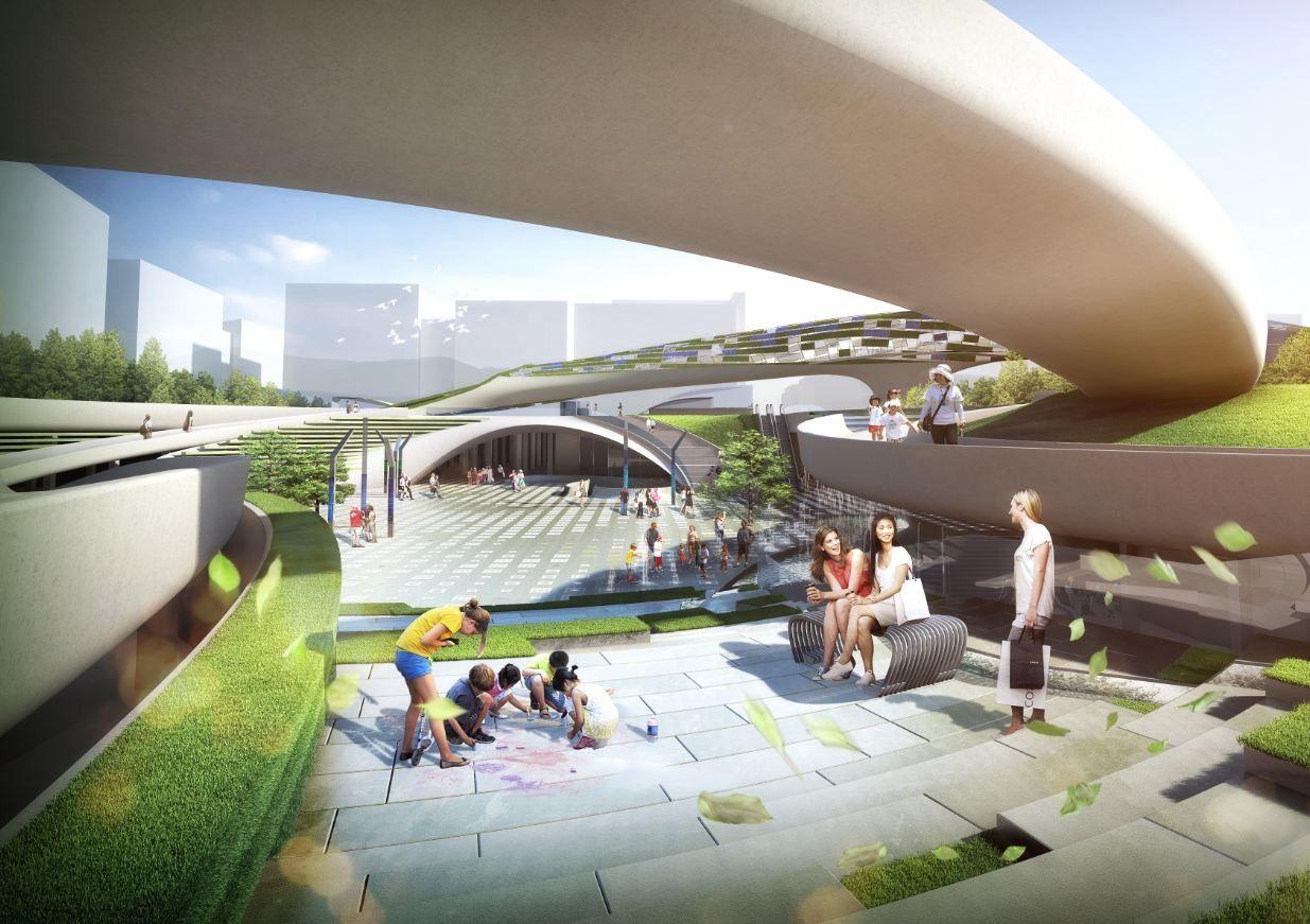 Galeria de Proposta vencedora para a Praça Central de Magok / Wooridongin Architects - 2