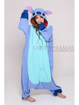 Disney Stitch Adult Onesie Pajamas....um can I please have this?