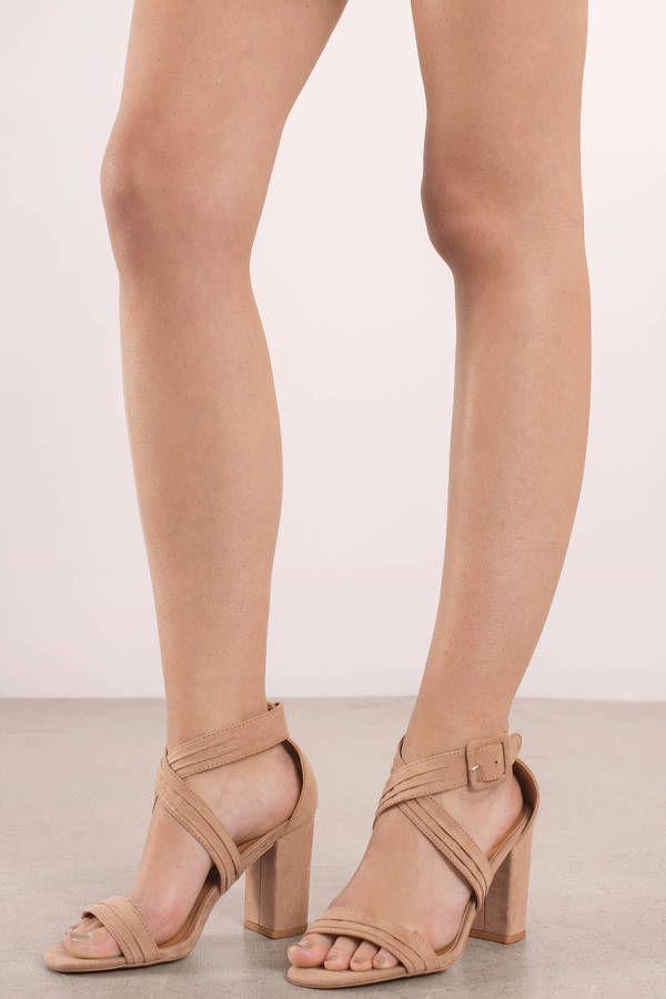 eafa38135b0 Chester Strappy Heels in 2019 | DRESS SHOP | Beige strappy heels ...