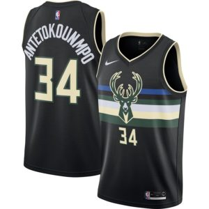 Men S Milwaukee Bucks Giannis Antetokounmpo Nike Black Finished Swingman Jersey Statement Edition Milwaukee Bucks Black Nikes Jersey