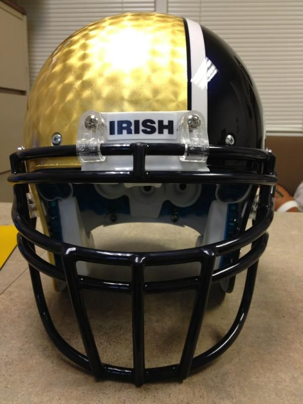 6866d38d0 Shamrock Series Helmet for Notre Dame vs. Miami at Soldier Field Chicago.  SHARP!