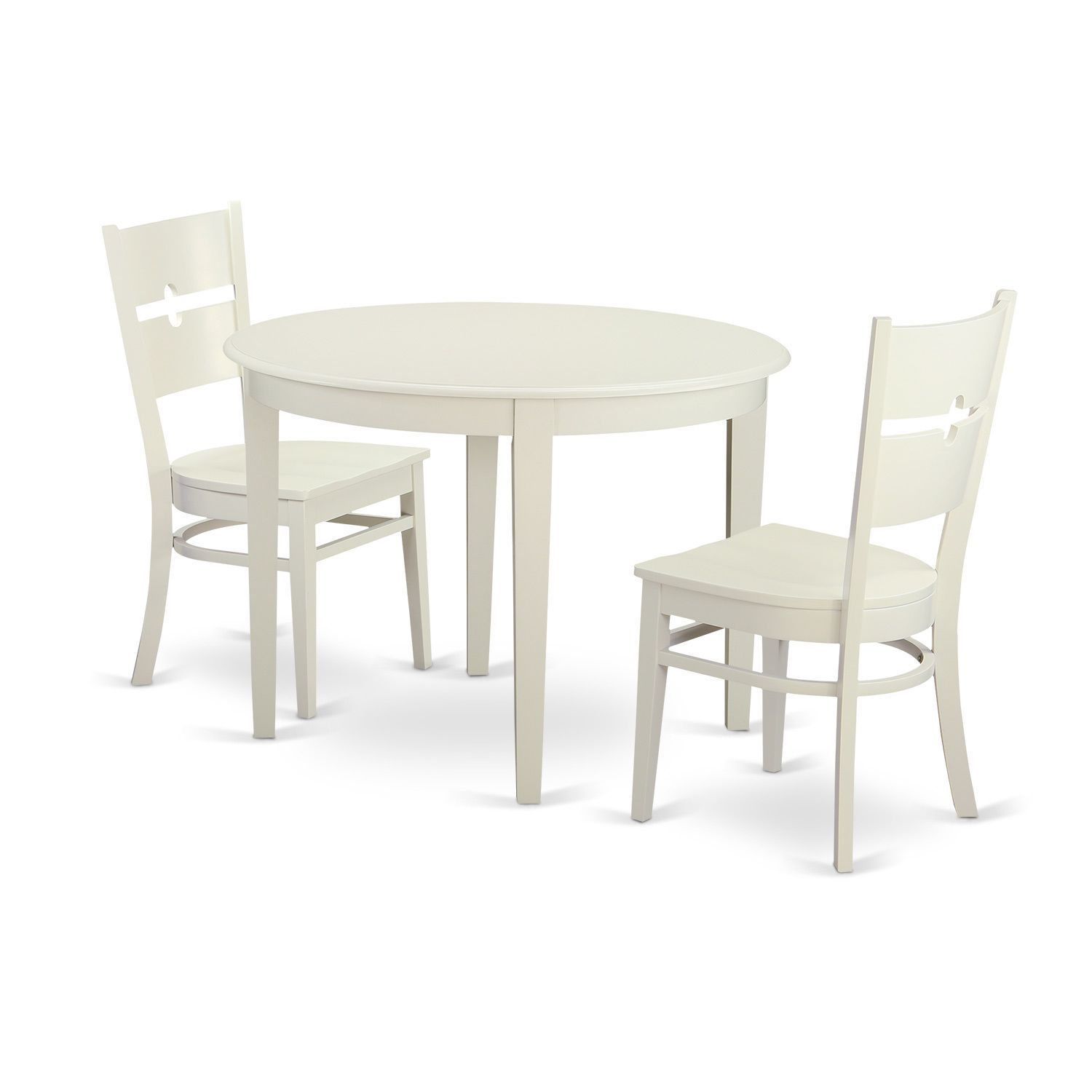 3 Piece Small Kitchen Table Set With Dining And 2 Dinette Chairs Linen