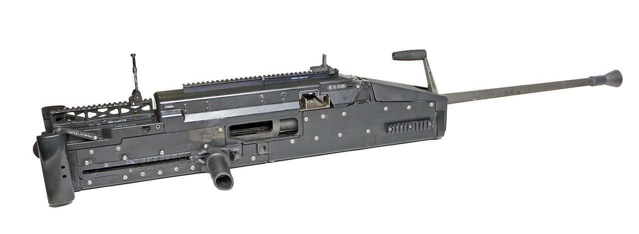 The XM806 provides a lighter alternative to the M2 Browning.