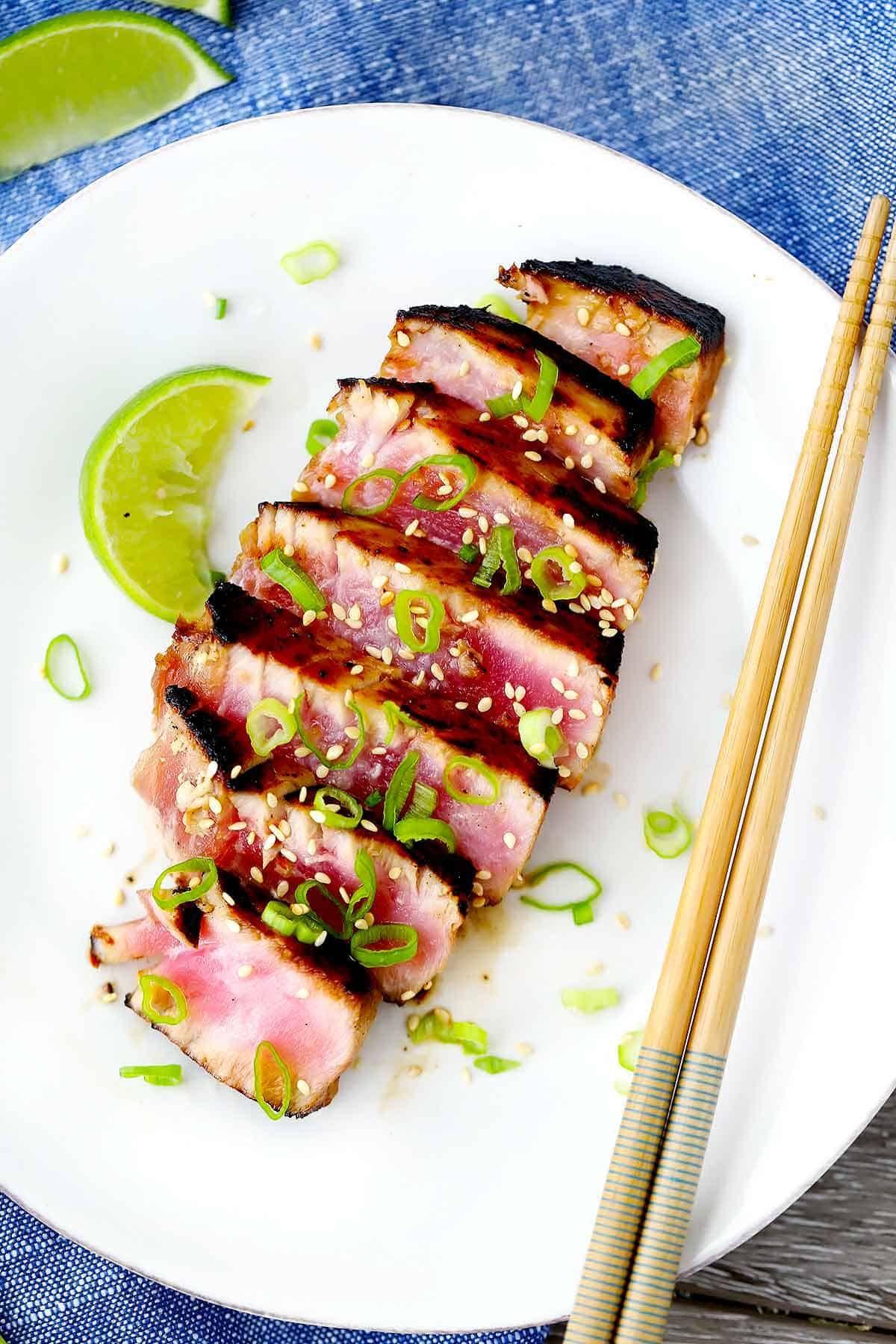 Six-Minute Seared Ahi Tuna Steaks | Recipe | Tuna steaks ...