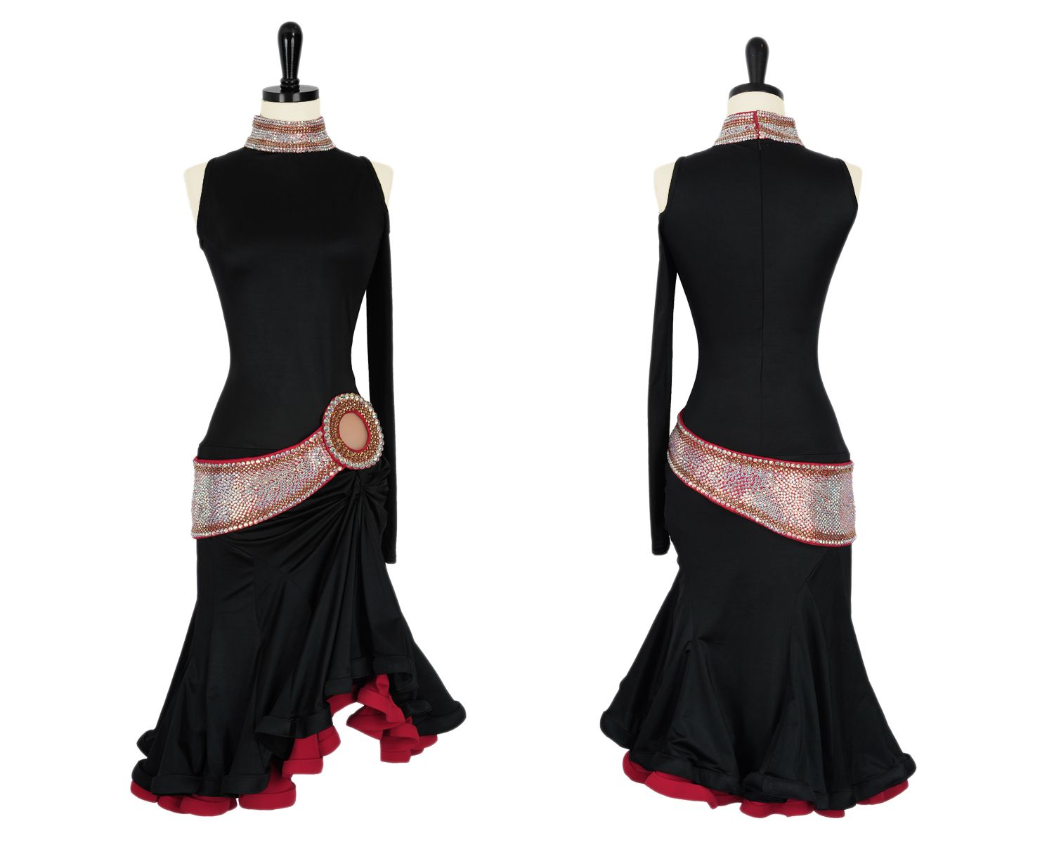 Vestidos Baile Salon Belted Bling Rhythm And Latin Dresses Encore Ballroom