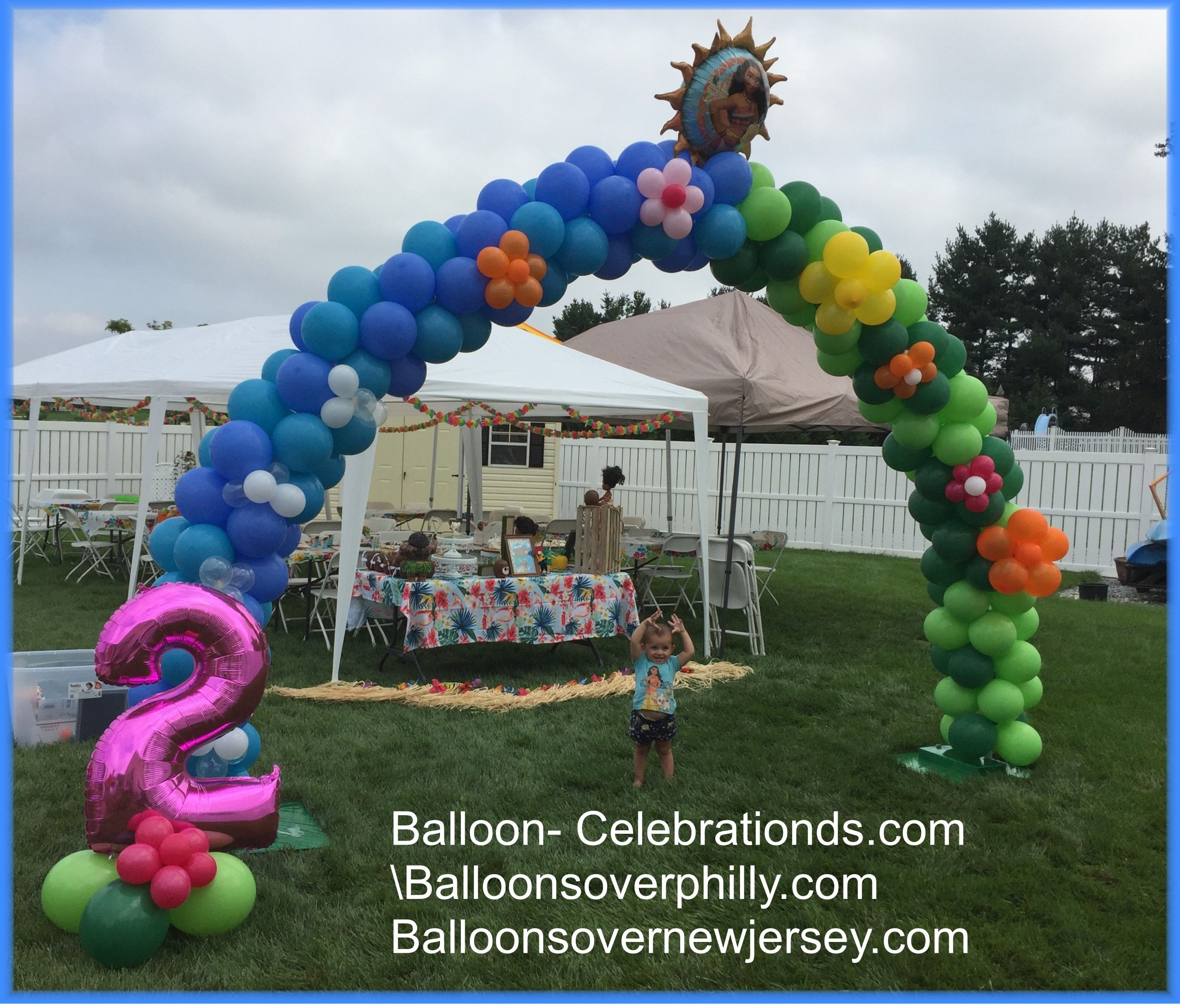 Balloon Arch For 2 Year Old Birthday Party In Mantua NJ