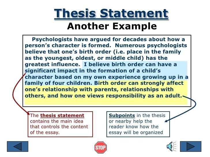 Argumentative Essay Topics For High School  Essay Thesis Statements also Essay Thesis Examples Free Thesis Statement Examples For Comparison Essays  Personal Narrative Essay Examples High School