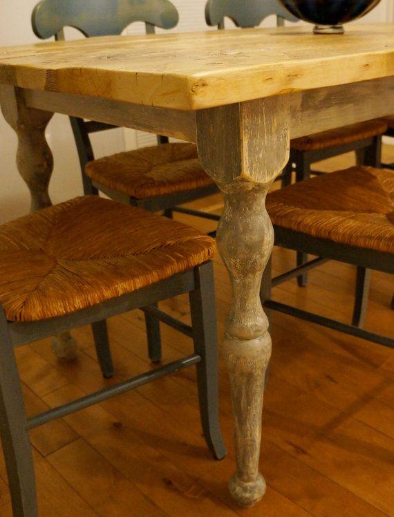 Handmade Farmhouse dining table with by RockyMountainTableCo, $1000.00