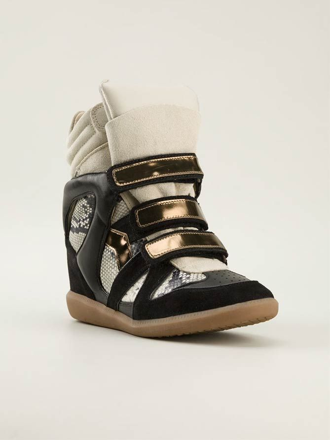ISABEL MARANT Hi-Top Sneakers |  $ BUY ➜ http://shoespost.com/isabel-marant-hi-top-sneakers/ ISABEL MARANT Like the designer herself, the Isabel Marant girl sneakers is fun, bohemian and effortlessly cool.
