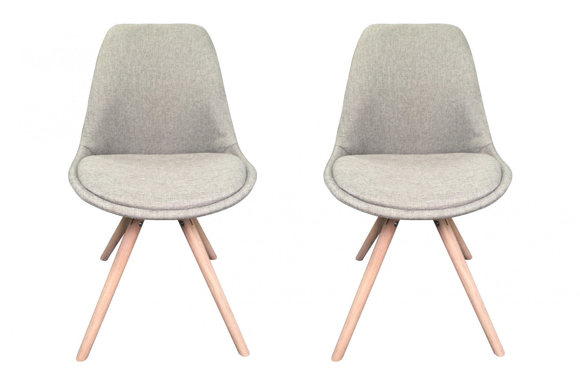 Orson   Bucket Chairs   Grey   Set Of 2