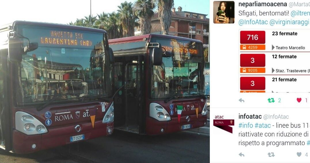 """A Roma non ci sono autobus, ma non per tutti - Per 5 giorni un certo numero di autobus sono stati riservati per clienti """"privati"""", per cui mentre Roma affonda, questi autobus fanno da """"navetta"""" per un congresso di Medici. Una nostra riflessione tentando di non fare polemica."""