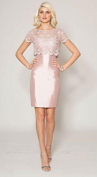 Pink Mother of the Bride Dresses | Blush cocktail dress, Wedding ...