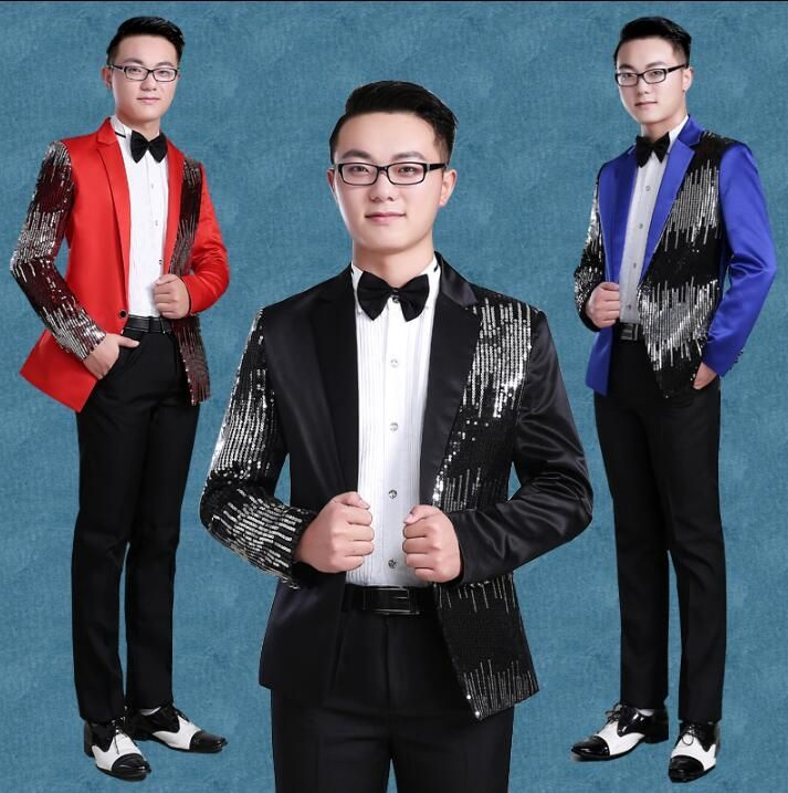 Black red blue blazer men formal dress latest coat pant designs suit ...