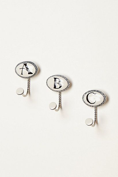 Ceramic Letter Hook #anthropologie. Bathroom Towel ...