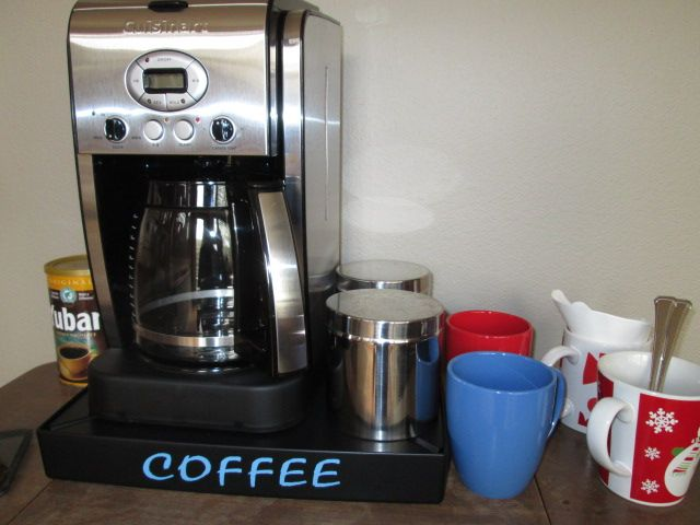 Great Addition To Your Coffee Station Helps Keep The Coffee Mess