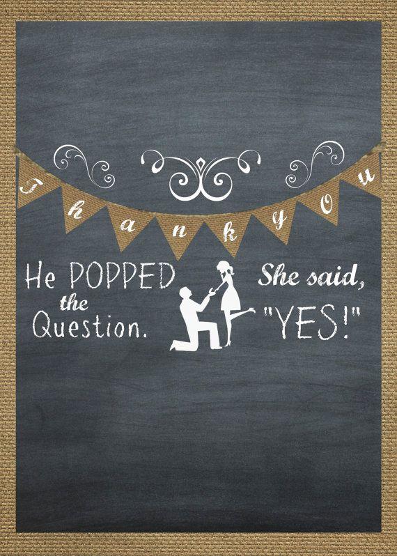 "Burlap Chalkboard Bridal Shower Favor Popcorn Wrap ""He ..."