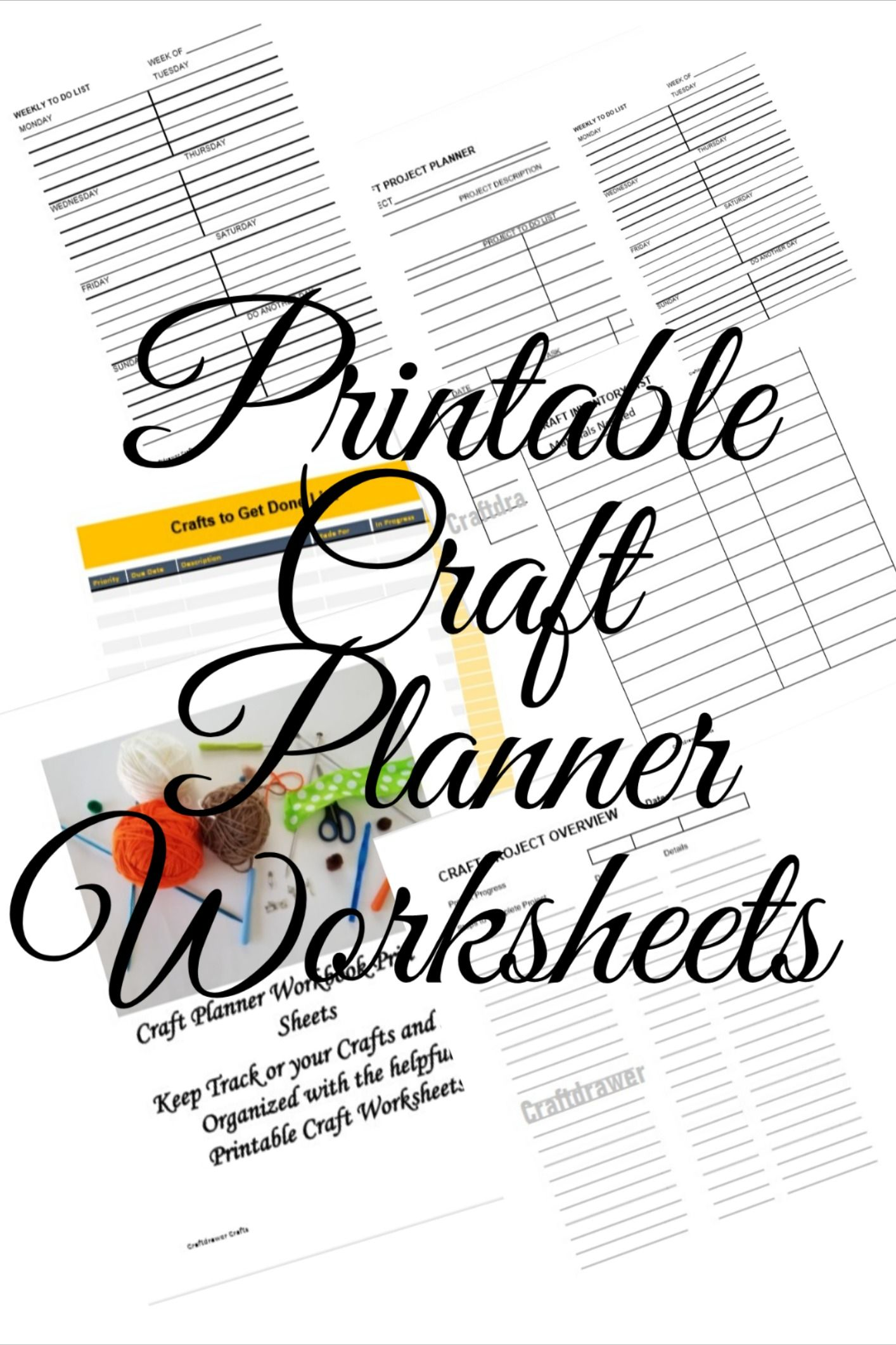 Printable Craft Planner Worksheets Download For All Sorts