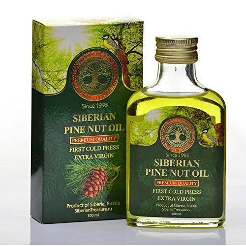 Siberian Pine Nut Oil 100 Ml Premium Quality Extra Virgin First Cold Press 3.4OZ #SiberianTreasure