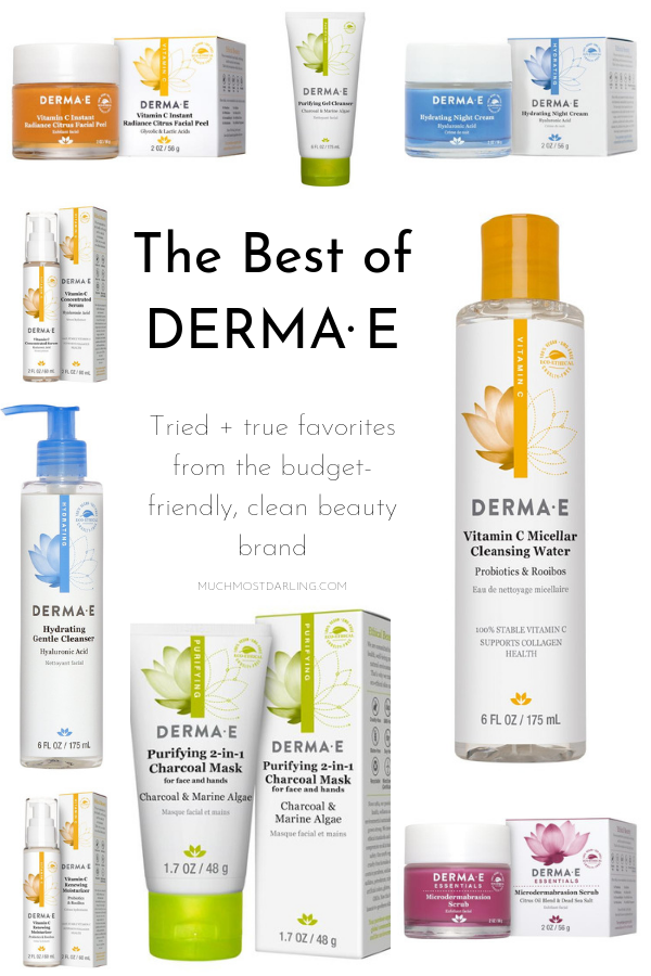 Best Of Derma E My Tried True Favorites Much Most Darling Realistic And Sustainable Motherhood Free Skin Care Products Favorite Skincare Products Simple Skincare