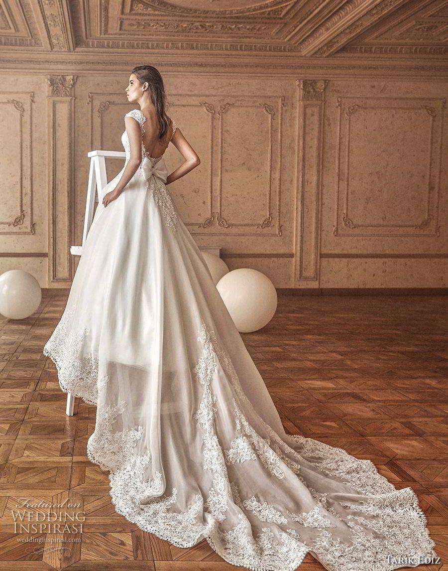 Tarik ediz white wedding dresses square necklines romantic