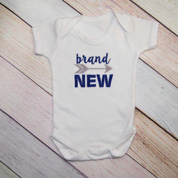 fb0f2acc3763 Brand New Baby Boys Bodysuit with Arrow - New Born Baby Boy - Coming ...