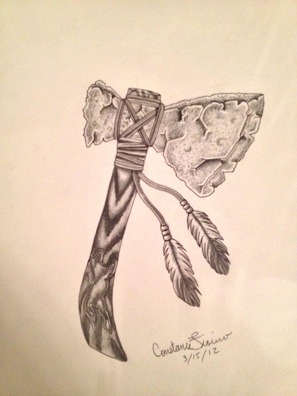 96049e334 Native American Tomahawk Tattoo images   Tattoo   Native tattoos ...