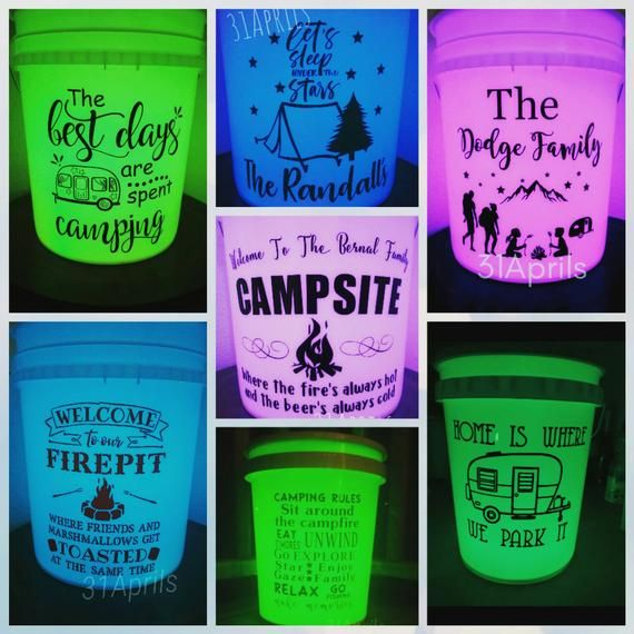 Light Up Camp Bucket Happy Glamper Happy Glamper Camping