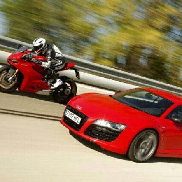 Ducati Vs Audi R8 Ducati Audi Sportbikes