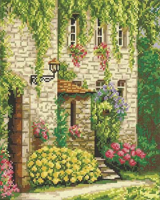 Вышивка крестом весна пейзаж