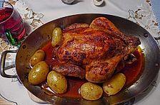 Maishähnchen mediterran mit Kartoffeln #kartoffelnofen