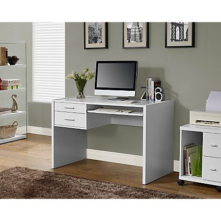 white computer desk with keyboard tray narrow monarch specialties computer desk with keyboard tray 31