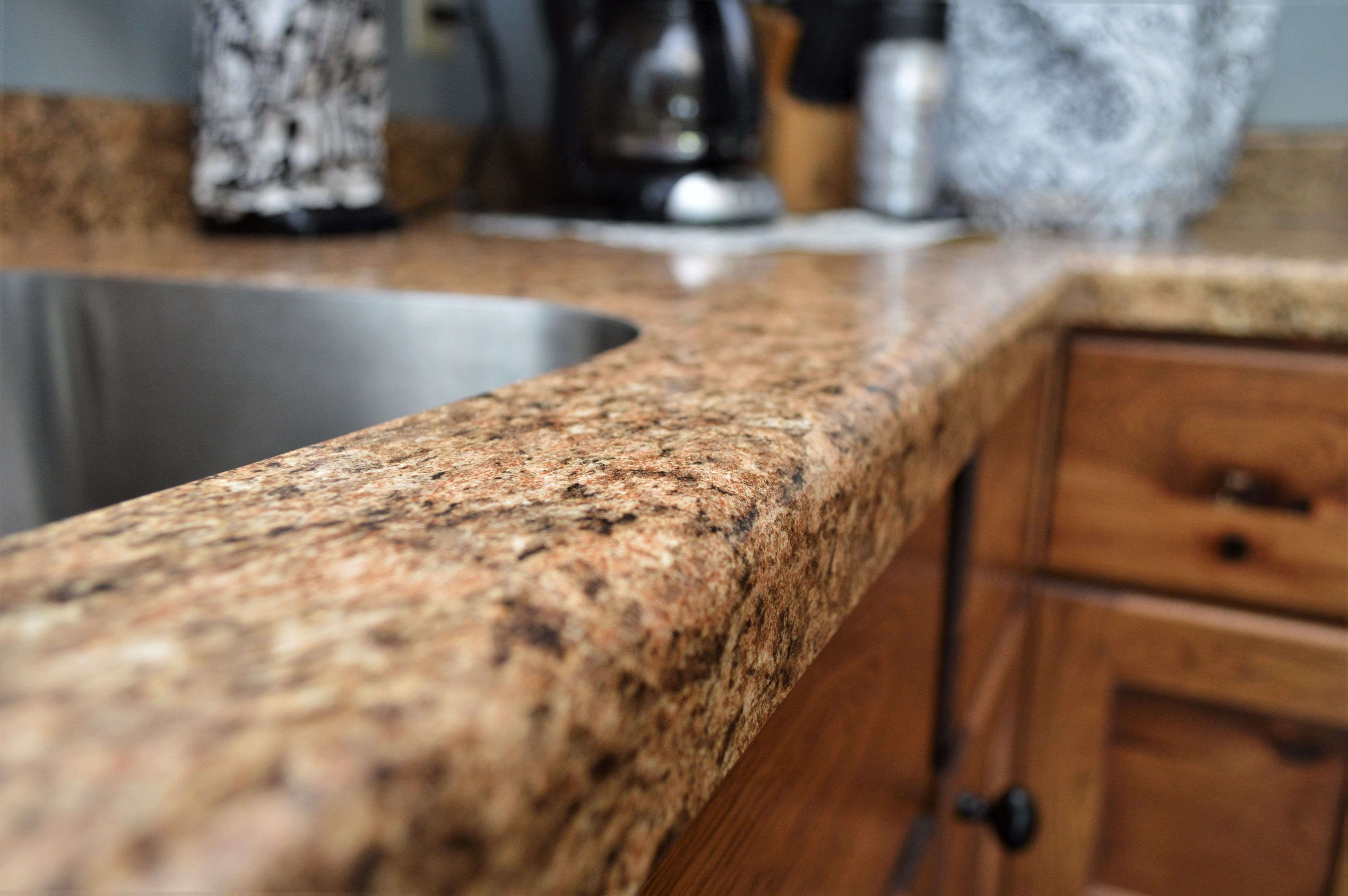 Bailey S Cabinets Laminate Counter Top Modern Edge Detail Coved