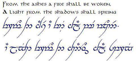Tolkien Elvish Tattoo Elven Tattoo Lotr Tattoo
