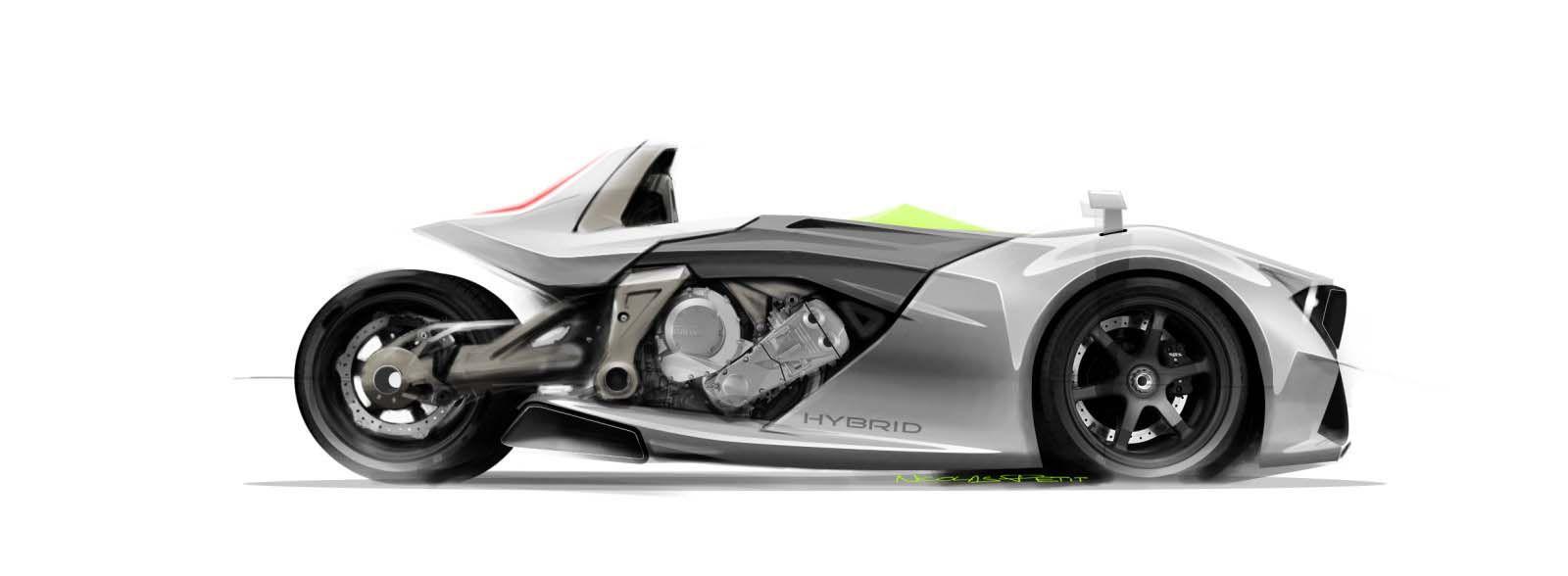 Bmwkgtwheelernicolaspetitjpg Amazing - Bmw 3 wheel car