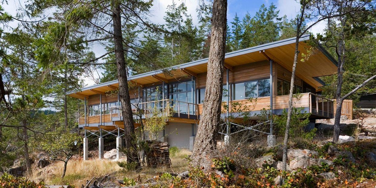Magnifique panorama pour cette maison bois contemporaine au Canada ...