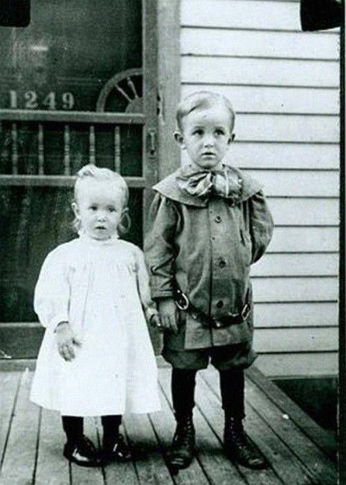Walt and Ruth Disney. Photo taken in Marceline, Missouri 1906