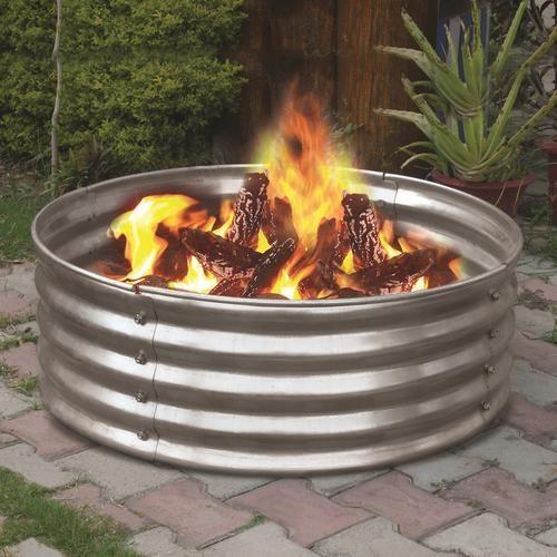 Backyard Creations 36 Galvanized Fire Ring At Menards Backyard