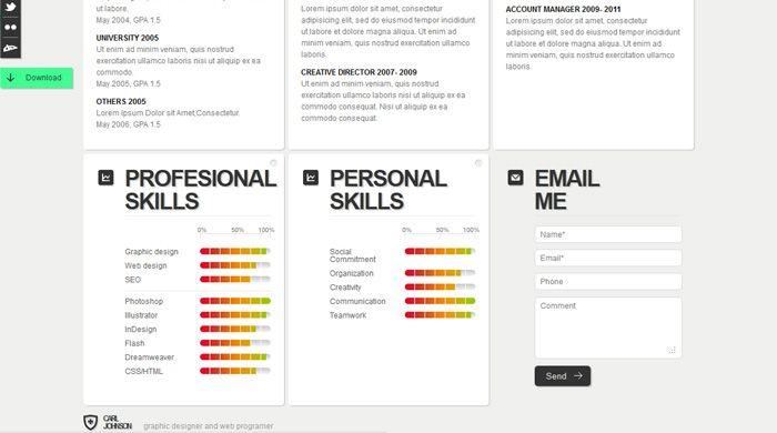 The Hogan Personality Inventory (HPI) identifies the bright side - resume website example